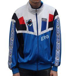 Football Kits, Football Jerseys, Italian Soccer Team, Soccer Fans, Vintage Football, Asics, Motorcycle Jacket, Windbreaker, Sleeves