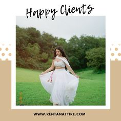"""""""White as it all. It's beauty is absolute. It's the perfect harmony""""- Coco Chanel  How mesmerising @antara_nandy is looking in this white colour designer lehenga with heavy embroidered blouse.  #rentanattite #sustainablefashion #happyclients #raahappyclients #whitelehenga #lehengaonrent #designerlehenga #makeinindia #rentalfashion #designerwear #rentthelook #rentisthenewbuy #fashionrevolution #onlinestore #whybuywhenyoucanrent #fashiononrent #Bridesmaids #bridesmaidsgoals #bridesmaidslook"""