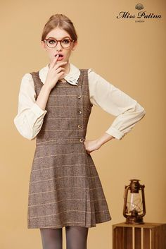 Miss Patina Primrose Pinafore in Tweed!  #Fashion
