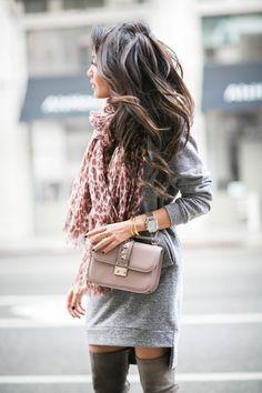 Comfy Bundled :: Sweater dress & Pink leopard (via Bloglovin.com )
