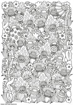 coloring pages of shrooms - photo#34