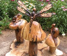 Chainsaw artist: Bud Emerson carves memorable works of art (slideshow, video) Chainsaw Wood Carving, Wood Carvings, Totem Pole Art, Cigar Store Indian, Bear Statue, Old Oak Tree, Tree Carving, Wood Sculpture, Sculptures