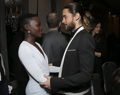 Lupita Nyong'o and Jared Leto. The Beautiful People.