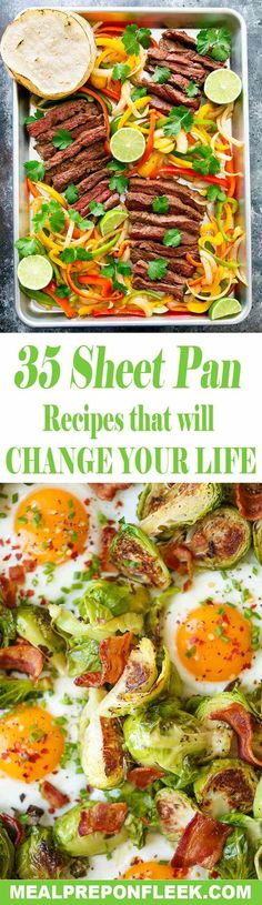 Meal Prepping is Easy when you can toss all of your healthy ingredients onto one sheet pan! Here are 35 sheet pan recipes that will change your life
