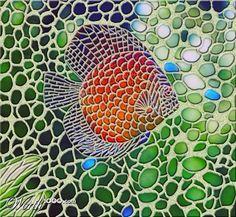 tropical fish mosaic