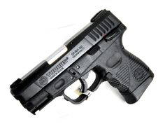 """Taurus PT24/7 G2 C 9mm. 1-247091G2C-17. A compact SA/DA pistol. It offers the best of Taurus, combining features from the Taurus 800 Series, 24/7 Series and 24/7 OSS. Features include """"Strike Two"""" capability for incredible reliability, contoured thumb rests, a new trigger safety and balanced spring pressure for extraordinarily fast shooting. 3-dot sights w/ adj Loading that magazine is a pain! Get your Magazine speedloader today! http://www.amazon.com/shops/raeind"""
