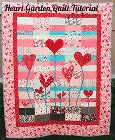 Moda Bake Shop: Heart Garden Quilt (layer cake)