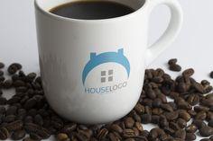 Home Logo by Josuf Media on Creative Logo, Custom Logo Design, Custom Logos, Rockets Logo, Dental Logo, Fish Logo, Real Estate Logo, Home Logo, Logo Templates