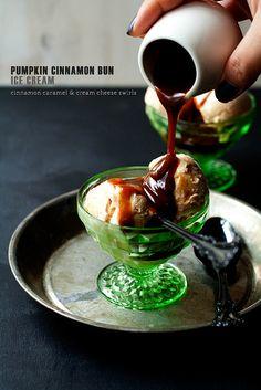 Pumpkin Cinnamon Bun Ice Cream by Cindy | Hungry Girl por Vida, via Flickr