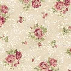 Welcome Home~Medium Roses-Natural~Cotton Fabric by Maywood Studio | Crafts, Fabric | eBay!