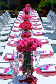 gorgeous!  lost of bright pink and blue!