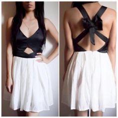 Hot chiffon bow dress