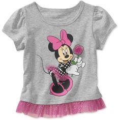Disney Baby Girls' Minnie Graphic Tulle Tee