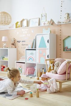 Storage cabinet 6 compartments - Ikea DIY - The best IKEA hacks all in one place Kids Room Furniture, Ikea Furniture, Children Furniture, Best Ikea, Baby Nursery Decor, Kids Bedroom, Baby Room, Playroom, Toddler Bed