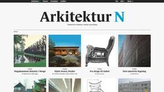 "Website for online magazine ""Arkitektur N"" (www.arkitektur-n. Over The Years, Magazine, Website, Design, Magazines, Design Comics"