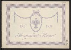 Katalog Domu Mody Bogusław Herse w Warszawie na sezon wiosna-lato 1908