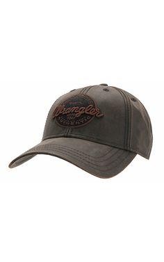 Wrangler® Dark Brown with Orange and Black Stitched Logo Cap