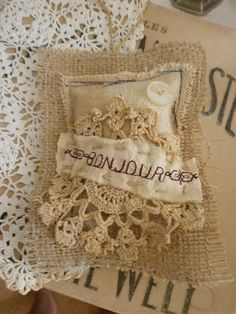 rustic sachet with lavender