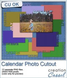 Calendar photo cutout - English