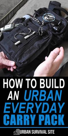 How To Build An Urban Everyday Carry Pack In this video, The Prepared Wanderer talks about what he put in his pack and why. This is one of the most realistic and practical EDC packs I've ever seen. Urban Survival Kit, Survival Prepping, Survival Gear, Survival Skills, Survival Stuff, Outdoor Survival, Survival Hacks, Tactical Survival, Survival Equipment