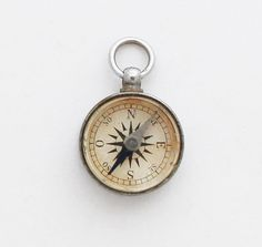 Vintage Religious Compass Pendant / Vintage by TheCompassCollector