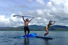 Costa Rica SUP - Bahia Rica, Paquera Greatest flat water SUP on great quality Hobie SUP board.Click to Close