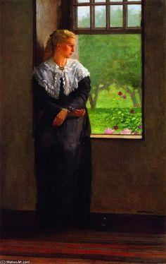'Träumereien', öl auf leinwand von Winslow Homer (1836-1910, United States)