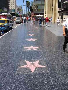 étoiles de Hollywood boulevard
