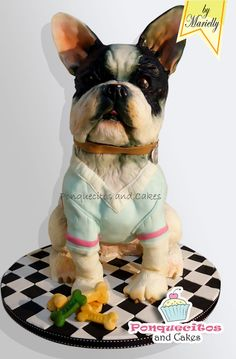 Sweet Dog Cake - by marielly @ CakesDecor.com - cake decorating website