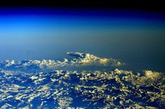 #GoodMorning from near the top of the world! #HappyHumpDay! #himalayas #YearInSpace  #world #earth #space #spacestation #iss #mountains #clouds #humpday #morning