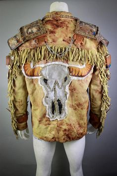 Wasteland Weekend Jacket - Concert Jacket - Burning Man Jacket - Post Apocalyptic Cosplay - LARP - Movie Jacket - Fallout - Stage Jacket Designer of the project is Viola Sychowska, founder of Wasted Couture collective. Assistance of this project is Wojciech Cysdorf member of Wasted