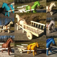 one or more people people sitting shoes and outdoorYou can find Nursery decor and more on our website.one or more people people sitting shoes and outdoor Presents For Girls, Gifts For Kids, Horse Drawn Wagon, Wooden Wagon, Big Horses, Felt Gifts, Natural Toys, Colorful Animals, Waldorf Toys