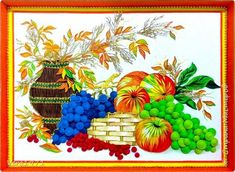 Картина панно рисунок Квиллинг Натюрморт Бумага Бумага гофрированная фото 1