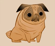 Pug by ~lemurali on deviantART