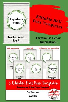Check out these Editable Hall Pass Templates! Are you looking for a classroom management strategy to keep track of who is out of the room and where they went to in the school building? Are you sick of writing out hall passes, a task that interrupts the flow of class activities, and wasting paper?