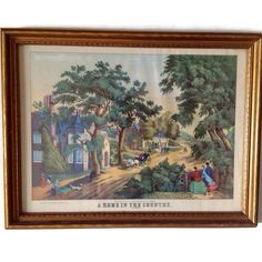 A full color reproduction of a print by Thomas Kelly titled A Home in the Country (Summer) The original was a lithograph by Kelly from the