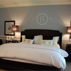 Love the monogrammed wall!