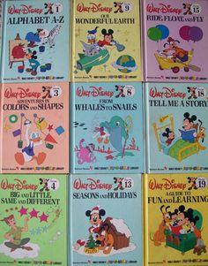 SALE - 1983 Walt Disney Fun-To-Learn Books - 9 Bantam Books from Disney's Fun To Learn Library