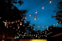 pretty string lights at the Winter Park Farmer's Market in FL | Chelsea Patricia #wedding