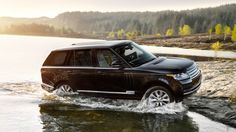 Range Rover Driving Safely Out of Water