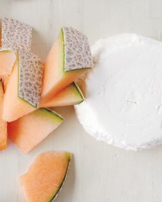 Cantaloupe + Goat Cheese