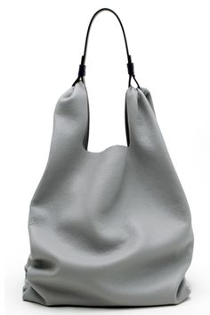 Shoulder bag by Jil Sander Mode Style, Beautiful Bags, My Bags, Fashion Bags, Style Fashion, London Fashion, Purses And Handbags, Leather Bag, Grey Leather