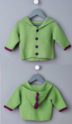 Free Knitting Pattern for Baby Cardigans : Free Easy Baby Cardigan Knitting Pat. Baby Cardigan Knitting Pattern Free, Knitting Patterns Boys, Baby Sweater Patterns, Knitted Baby Cardigan, Knit Baby Sweaters, Free Knitting, Scarf Patterns, Hoodie Pattern, Finger Knitting