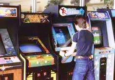 I miss the days of arcades. But any excuse to get out of the house sounds good. I do have a bowling alley with an arcade a few miles away from me. 80s Video Games, Vintage Video Games, Arcade Stick, Arcade Room, Nostalgia, Retro Arcade, Retro 2, Retro Videos, Arcade Machine