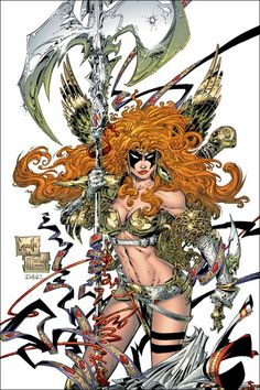 Angela by Greg Capullo (Image comics, & now Marvel comics) Comic Book Artists, Comic Book Characters, Comic Book Heroes, Comic Artist, Comic Character, Comic Books Art, Spawn Comics, Arte Dc Comics, Greg Capullo