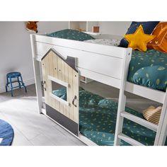 Neues Kampagnenbett von Lifetime - 2019 . Dieses #Kinderbett wir in limitierter Anzahl nur 2019 produziert. #Etagenbett, bestehend aus einem #bodennahen und halbhohen #Hochbett. Beide Betten könnten nach Bedarf auch einzeln gestellt werden. Die nordischer Kiefer, das Material des Bettes, ist deckend weiß lackiert . Kidsroom, Play Houses, Betta, Loft, Interiordesign, Material, Furniture, Home Decor, Nursery Set Up