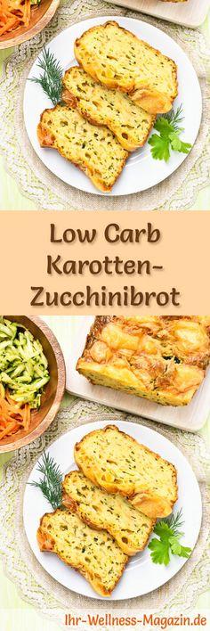 Rezept für Low Carb Karotten-Zucchinibrot: Kohlenhydratarm, ohne Getreidemehl, gesund und gut verträglich ... #lowcarb #brot #backen #abnehmen #frühstück
