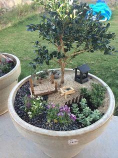 53 Enchanting DIY Fairy Garden Ideas - Garden Care, Garden Design and Gardening Supplies Fairy Garden Pots, Indoor Fairy Gardens, Fairy Garden Houses, Miniature Fairy Gardens, Fairy Gardens For Kids, Fairy Gardening, Dish Garden, Urban Gardening, Garden Table