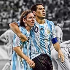 Born on the same day. Messi and Riquelme