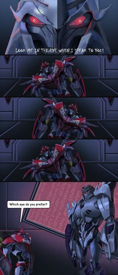 Bwhahaha Knockout would so do this XD And I'm glad I wasn't the only one to notice the many eye fails of this show lol.